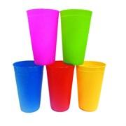 Стакан пластиковый 0,4 л, цветной (шт.)