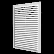 Решетка вентиляционная (А1313С) неразъемная наклон. жалюзи 138х138 мм
