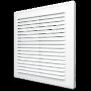 Решетка вентиляционная (1515P) с сеткой разъемная наклон. жалюзи 150х150 мм