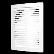 Решетка вентиляционная (1515РЦ) с сеткой неразъемная наклон. жалюзи 150х150 мм