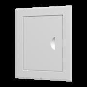 Люк-дверца ревизионный (ЛТ3030Мп/э), стальной с ручкой 360х360 мм с фланцем 300х300 мм