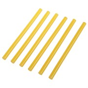 Стержни клеевые, желтые, 11x200 мм, 6 штук (уп.)