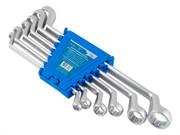Набор ключей гаечных двухсторонних накидных Cr-v, матовая полировка, 6 предметов (Hardax) (уп.)