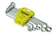 Набор ключей гаечных двухсторонних накидных, углеродистая сталь, 6 предметов (Hobbi) (уп.)