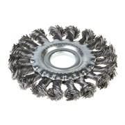 Щетка-крацовка дисковая, крученная проволока, диаметр 100мм, посад. диаметр 22,2 мм (Hobbi) (шт.)