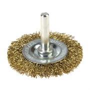 Щетка-крацовка со шпилькой для дрели, круглая, диаметр 40 мм (Hobbi) (шт.)