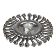 Щетка-крацовка дисковая, крученная проволока, диаметр 150мм, посадочная гайка М14 (Hobbi) (шт.)