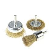Набор щеток-крацовок со шпилькой для дрели , 3 предмета (Hobbi) (уп.)