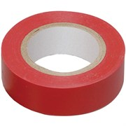 Лента клейкая, изоляционная, ПВХ, красная, ширина 15 мм (Hobbi) (шт.)