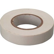 Лента клейкая, изоляционная, ПВХ, белая, 19 мм х 20 м (Hobbi) (шт.)