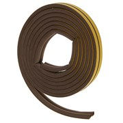 Уплотнитель для окон D-профиль (резиновый) на клейкой основе коричневый 10м   (шт.)