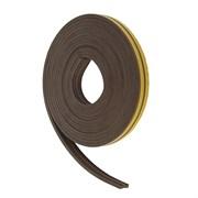 Уплотнитель для окон Е-профиль (резиновый) на клейкой основе коричневый 10м   (шт.)