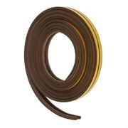 Уплотнитель для окон Р-профиль (резиновый) на клейкой основе коричневый 10м   (шт.)