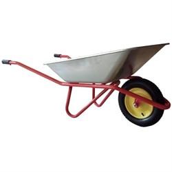 Тачка садово-строительная одноколесная, грузоподъемность 100 кг, объем 65 л - фото 12305