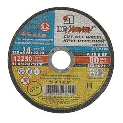 Диск отрезной по металлу, 125 х 2,5 х 22 мм (шт.) - фото 20751
