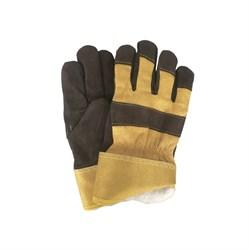 Перчатки спилковые комбинированные, утепленные синтепоном - фото 22646