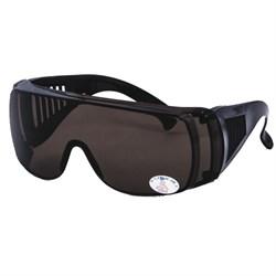 Очки защитные с прозрачными дужками, затемненные (шт) - фото 22657