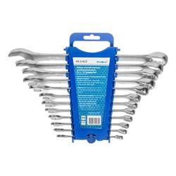 Набор ключей гаечных комбинированных, Cr-v, матовая полировка, 12 предметов (Hardax) (уп.) - фото 22915