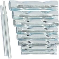 Набор ключей-трубок торцевых, 6 х 22 мм, 2 воротка, сталь, 10 предметов (Hobbi) (уп.) - фото 22927