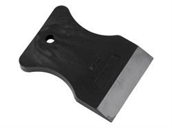 Шпатель резиновый, чёрный, 100 мм (шт.) - фото 5021