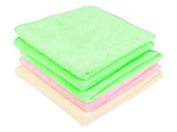 Набор из 5 салфеток из микрофибры для влажной уборки, 300 х 300 - фото 5668