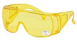 Очки защитные с прозрачными дужками, желтые (шт) - фото 5724