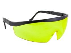 Очки защитные, поликарбонат, с непрозрачными дужками, желтые (шт) - фото 5726