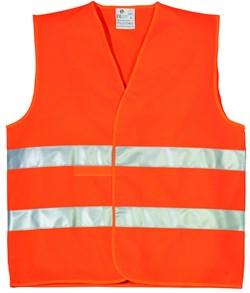 Жилет сигнальный оранжевый, размер XL  (шт.) - фото 5742