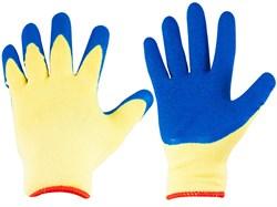 Перчатки трикотажные с рифленным латексом (шт.) - фото 5877