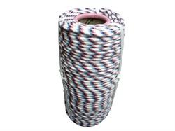 Фал плетеный полипропиленовый, D8мм, L 100м, 16-прядный, 520кгс, с сердечником - фото 6465