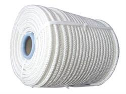 Фал плетеный капроновый, D6мм, L 100м, 16-прядный, 650кгс, с сердечником - фото 6467