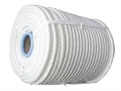 Фал плетеный капроновый, D8мм, L 100м, 16-прядный, 1000кгс, с сердечником - фото 6472