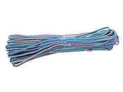 Шнур вязаный полипропиленовый, D6 мм, L20м, 90-110 кгс, с сердечником цветной - фото 6477