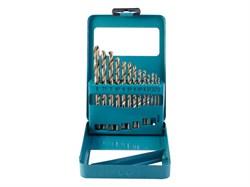 Набор сверл по металлу, 2 - 8 мм, шаг 0,5 мм, металлический короб, 13 предметов(Hardax) (уп.) - фото 7050