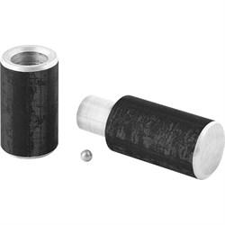 Петли гаражные диам.22 мм, 120 мм, комплект 4 штуки  (шт.) - фото 7662