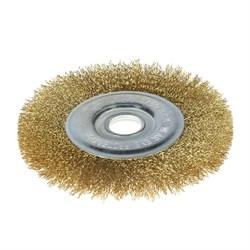 Щетка-крацовка для УШМ, дисковая, 150 мм, посадочный диаметр 22,2 мм (Hobbi) (шт.) - фото 8391