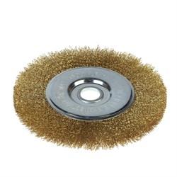 Щетка-крацовка для УШМ, дисковая, 200 мм, посадочный диаметр 22,2 мм (Hobbi) (шт.) - фото 8401