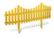 Декоративный пластиковый забор, 6 секций, общая длина 3.5 м (Yard) (шт.)