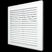 Решетка вентиляционная (2121P) с сеткой разъемная наклон. жалюзи 208х208 мм