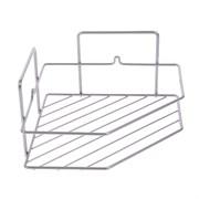 Полка для ванной угловая трапеция  1 ярус гальваника цинк цвет хром
