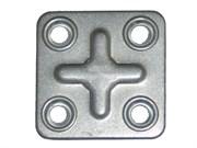 Пластина крепежная ПК37 х 37 х 1,2 мм, оцинкованная (шт.)