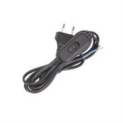 Шнур с проходным выключателем 1.7 метра(черный) (шт.)