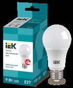 Лампа светодиодная A60 шар, 9Вт, 230В, 4000К, E27