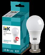 Лампа светодиодная A60 шар, 15Вт, 230В, 4000К, E27