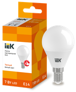 Лампа светодиодная G45 шар 7Вт 230В 3000К, E14