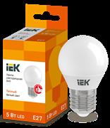 Лампа светодиодная G45 шар 5Вт 230В 3000К, E27