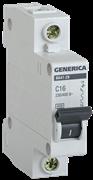 Автоматический выключатель GEN-1-006-C, ВА47-29, 1Р, 6А 4,5кА х-ка С