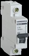 Автоматический выключатель GEN-1-010-C, ВА47-29, 1Р, 10А, 4,5кА, х-ка С