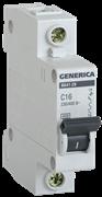 Автоматический выключатель GEN-1-016-C, ВА47-29, 1Р, 16А, 4,5кА, х-ка С