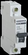 Автоматический выключатель GEN-1-020-C, ВА47-29, 1Р, 20А, 4,5кА, х-ка С